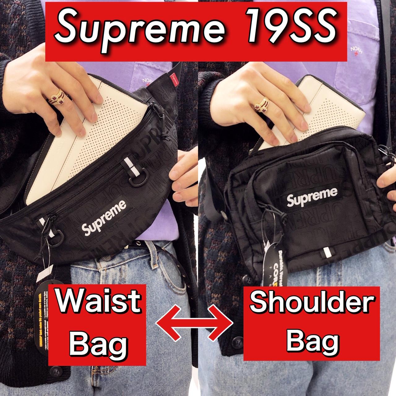 Supreme シュプリーム waist bag shoulder bag ウエストバッグ ショルダーバッグ 古着 大阪 メメモリ mememori box logo ボックスロゴ 堀江 通販 19SS